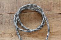 textielsnoer stofdraad stofzuigersnoer strijkijzersnoer zebra zwart wit