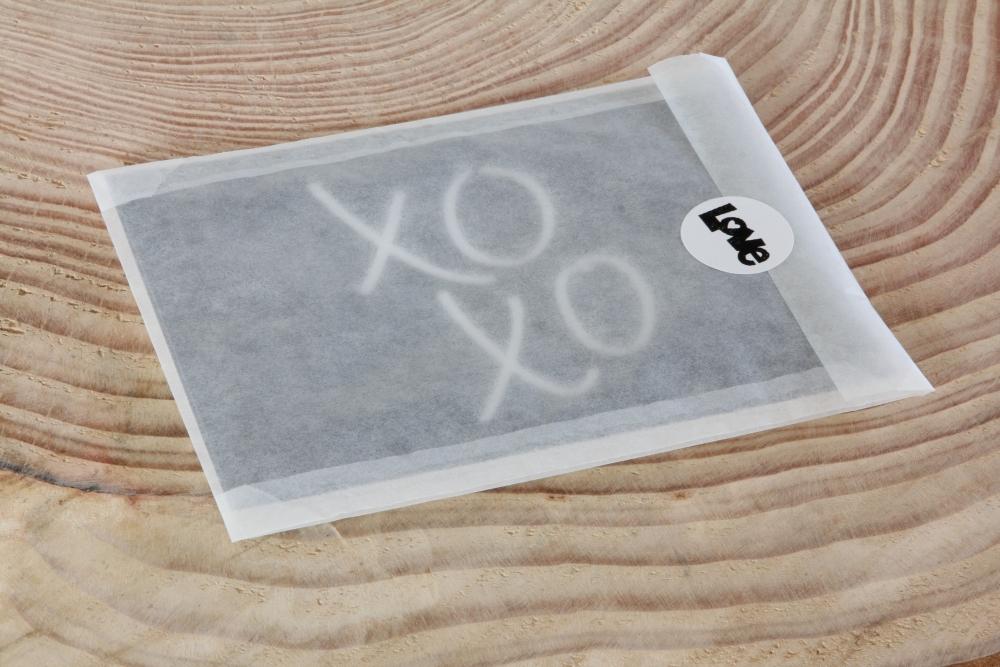 Het Noteboompje pergamijn zakje met sticker