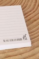 Het Noteboompje notitieblaadjes notitieblaadje kladblaadje stationery memo memoblok memoblokje zwart wit notitieblok