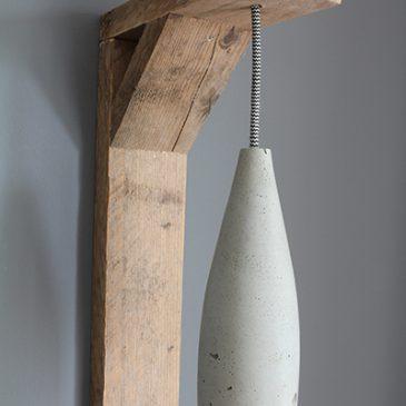 wandlamp lamphouder steigerhout cementlamp kooldraadlamp beton lamp betonlamp zebrasnoer textielsnoer strijkijzersnoer steigerhouten betonnen cementen