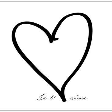Het Noteboompje kaart kaartje A6 krijtbord chalkboard zwart wit zwartwit zwart-wit zwart/wit