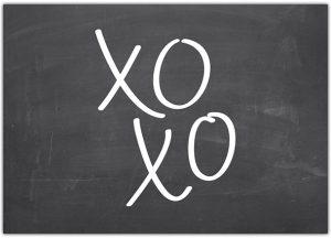 Het Noteboompje kaart kaartje A6 xoxo krijtbord chalkboard zwart wit zwartwit zwart-wit zwart/wit