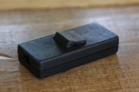 Het Noteboompje snoerschakelaar zwart