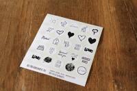 Het Noteboompje stickers/etiketjes