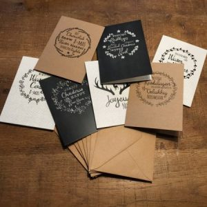 Het Noteboompje - Set van 7 kerstkaarten inclusief kraftenveloppes