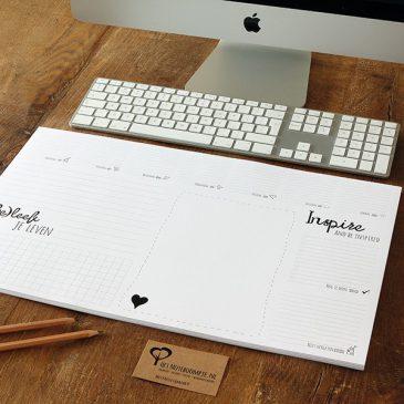 Het Noteboompje Stationery Stationary Bureaulegger Weekplanner Office Zwart Wit