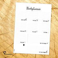Het Noteboompje A4 bureaulegger planner notitie notitieblok notepad weekplanner zwart wit zwartwit zwart-wit zwart/wit doodle memo memoblok memoblokje
