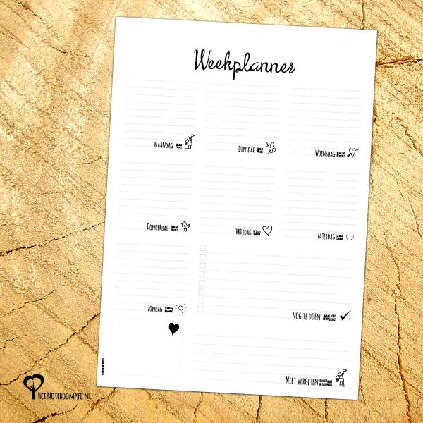 Weekplanner A4 blok