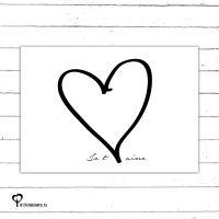 Het Noteboompje kaart kaartje A6 zwart wit zwartwit zwart-wit zwart/wit woonkaart