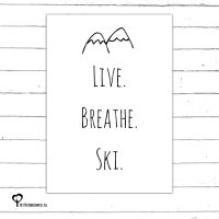 Het Noteboompje kaart kaartje A6 zwart wit zwartwit zwart-wit zwart/wit woonkaart ski