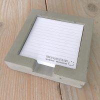 Het Noteboompje notitieblaadjeshouder vaderdag beton betonnen cement cementen