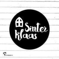 Het Noteboompje zwart wit zwartwit zwart-wit zwart/wit monochrome monochroom sticker etiket sluitzegel snailmail sinterklaas sint piet cadeauzegel sluitsticker