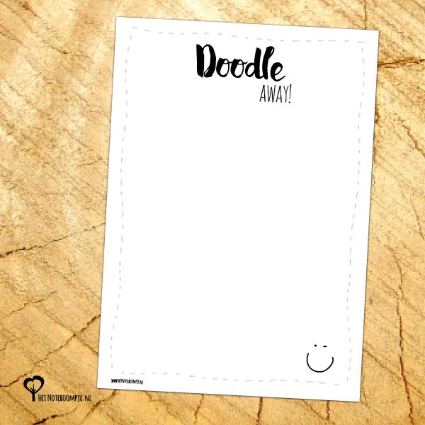 Notitieblok A6 – Doodle away!