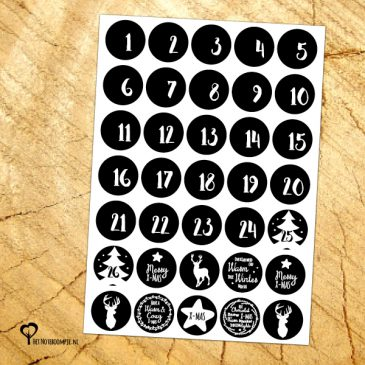 noteboompje kerst advent kalender adventskalender advent sticker advent stickers sluitzegel sluitzegels adventstickers adventsstickers december decemberkalender adventkalender