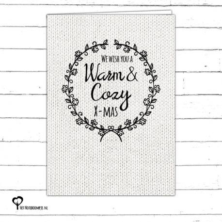 Het Noteboompje kerstkaart christmas christmascard x-mas xmas card zwartwit zwart-wit zwart wit monochrome monochroom wol wool