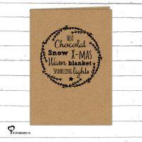 Het Noteboompje kerstkaart christmas christmascard x-mas xmas card kraft kraftpapier
