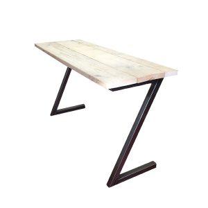 bureau bureautje tafel tafeltje gebruikt steigerhout metaal buis staal profiel gelast industrieel stoer het noteboompje