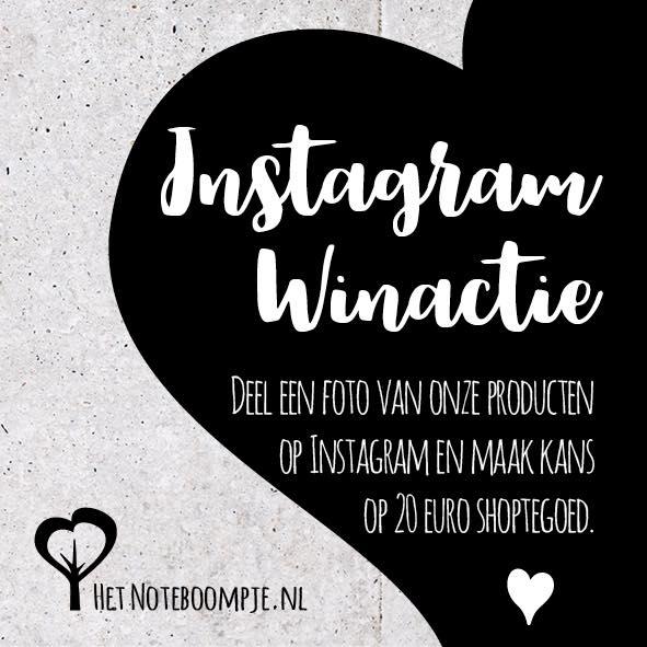Instagram Winactie win 20 euro shoptegoed bij Het Noteboompje