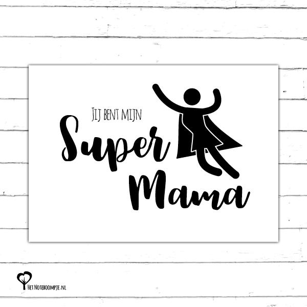 gefeliciteerd super mama