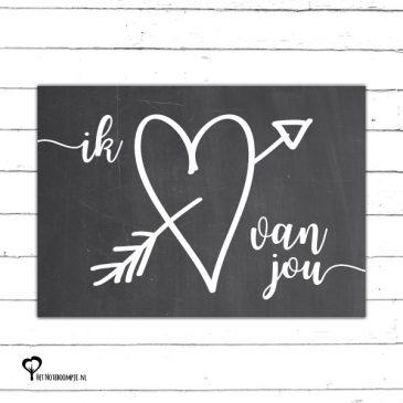 Het Noteboompje kaart woonkaart zwartwit zwart-wit zwart wit monochrome monochroom valentijn valentine valentijnskaart valentijnskaartje 14 februari valentijnsdag ik hou van jou
