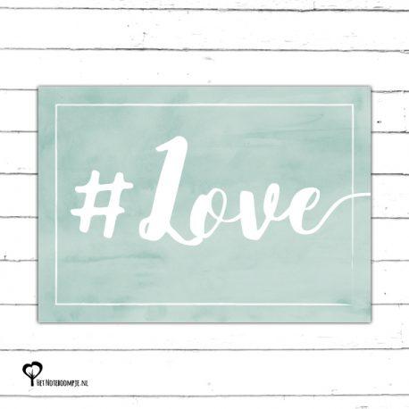 #love liefde early dew mint groen mintgroen aquarel watercolor kaart kaartje kaarten het noteboompje a6