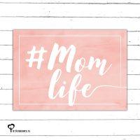 #momlife momlife mom life mumlife zalm zalmkleur zalmkleurig roze pink nude kaart kaartje kaarten het noteboompje a6