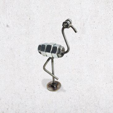 metalen flamingo scrap metal bout bouten moer moeren dier diertje het noteboompje
