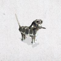 metalen hond scrap metal bout bouten moer moeren dier diertje het noteboompje