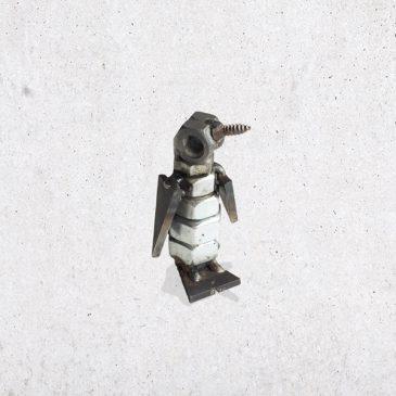 metalen pinguïn pinguin metaal scrap metal bout bouten moer moeren dier diertje het noteboompje