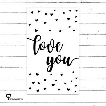 Minikaartje Love you