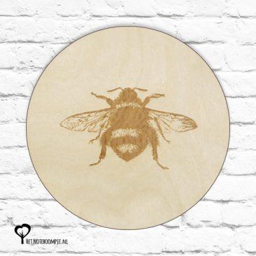 hommel hommels bij bijen insect botanical het noteboompje muurcirkel muurcirkels wandcirkel wandcirkels tuincirkel tuincirkels muur wand cirkel rond rondje afbeelding schilderij