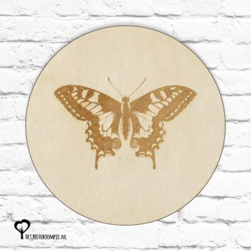 vlinder vlinders insect botanical het noteboompje muurcirkel muurcirkels wandcirkel wandcirkels tuincirkel tuincirkels muur wand cirkel rond rondje afbeelding schilderij