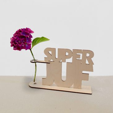 superjuf topjuf super juf cadeau juf juffencadeau kado kadootje afscheid afscheidscadeau afscheidskado reageerbuis reageerbuisje bloem bloemmetje hout houten berken het noteboompje