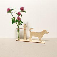 jack Russell hond honden hondenliefhebber cadeau kado kadootje reageerbuis reageerbuisje bloem bloemmetje hout houten berken het noteboompje