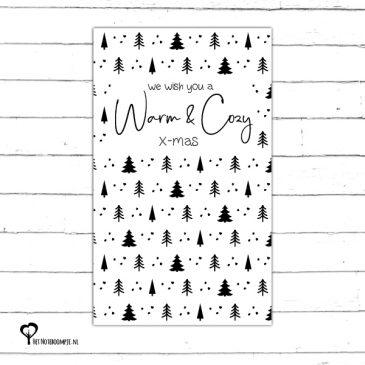 kerstkaart minikaartje christmas christmascard x-mas xmas card zwartwit zwart-wit zwart wit monochrome monochroom Het Noteboompje