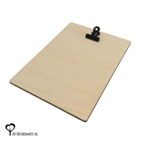 Klembord voor A6 kaartje of een foto van 10 x 15 cm klembordje fotohouder fotolijst kaarthouder kaartklem hout houten berk berken het noteboompje
