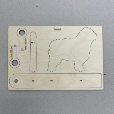 Houten Bobtail mini vaasje