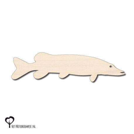snoek magneet hout roofvissen berk berken magneetje magneten magneetjes het noteboompje