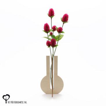 vaasje mini vaas cadeau kado kadootje reageerbuis reageerbuisje bloem bloemetje hout houten berken het noteboompje