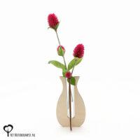 halsvaas halsvaasje vaasje mini vaas cadeau kado kadootje reageerbuis reageerbuisje bloem bloemetje hout houten berken het noteboompje